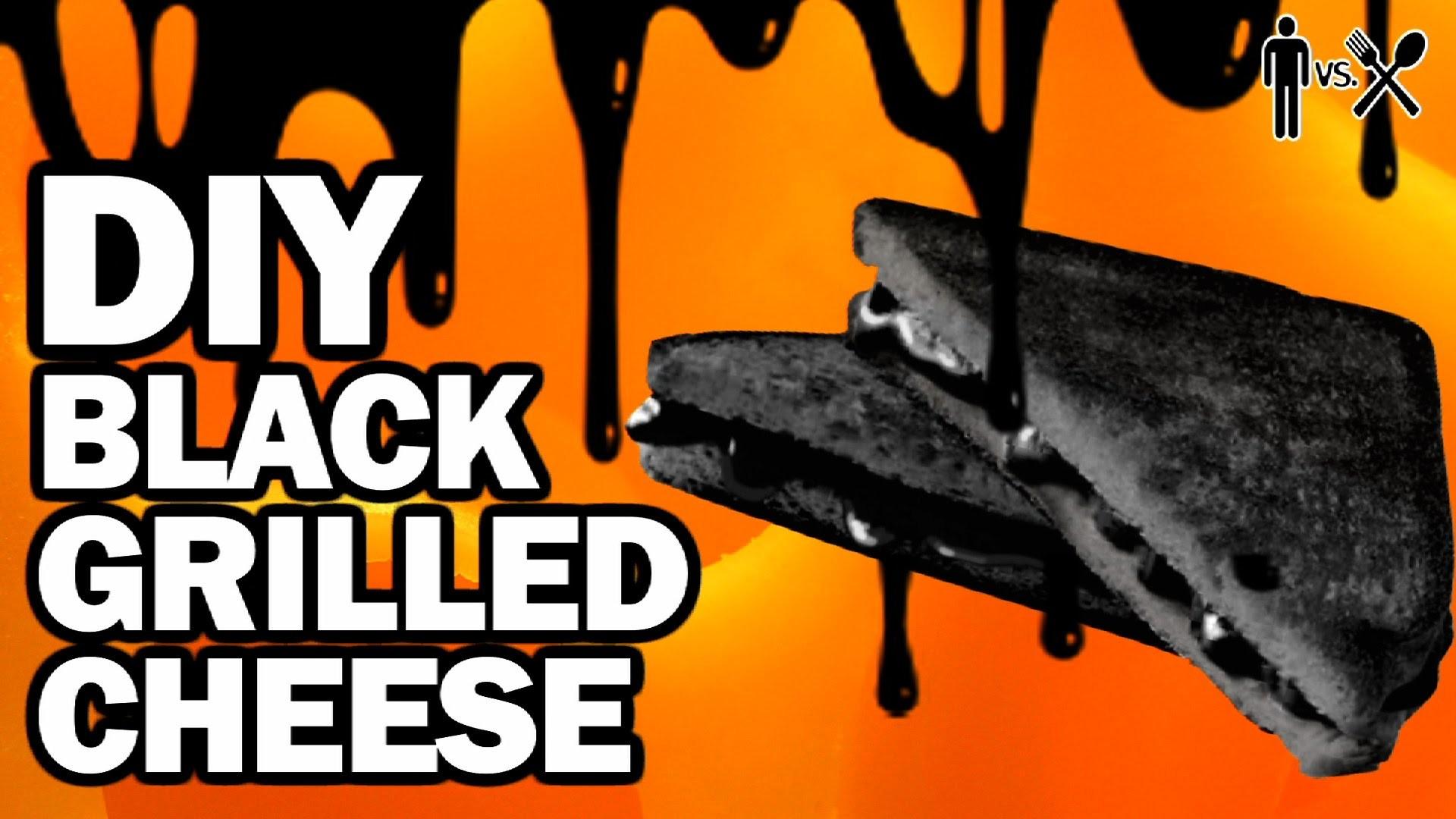 DIY BLACK GRILLED CHEESE - Man Vs Din #3