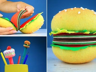 DIY Cheeseburger Notebook and Cake Pencils