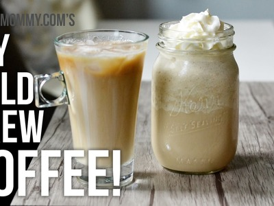 DIY Cold Brew Coffee with Homemade Sweet Vanilla Cream