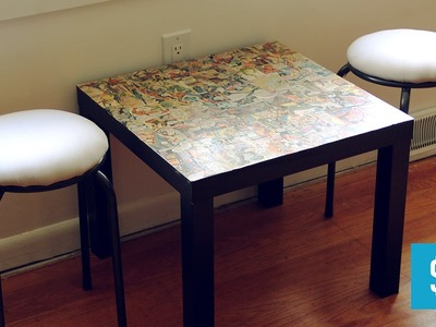 DIY Comic Book Kids Table with Custom Stools
