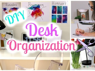 DIY Desk Decor and Organization Ideas | Back To School 2016