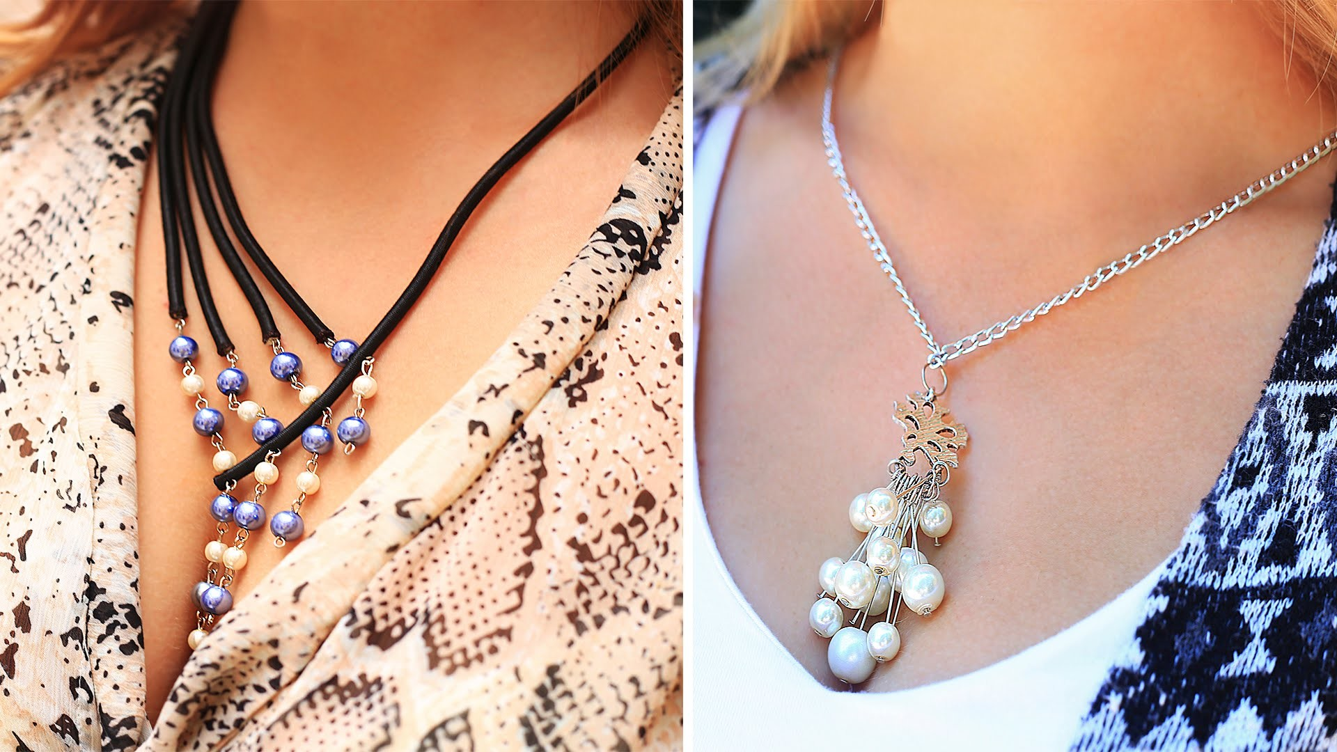 DIY Drop Pearl Necklace Ideas