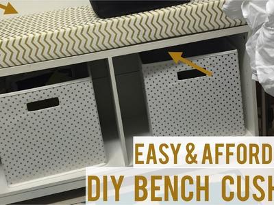 DIY Easy  Bench Cushion | Under $40!!!