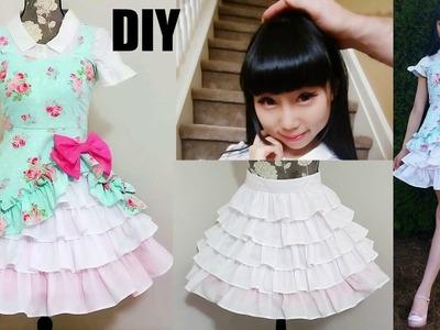 DIY Easy Victorian Inspired Classic Dress + Underneath Ruffle Skirt | Lolita Inspired Fashion DIY