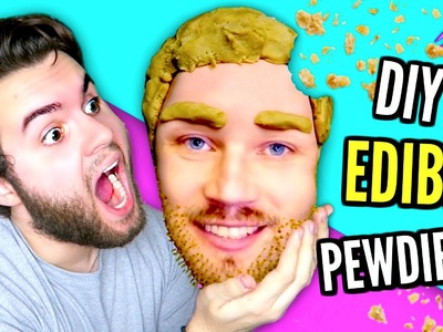 DIY Edible PewDiePie! | How To Make Felix Kjellberg CAKE | EAT Youtubers!