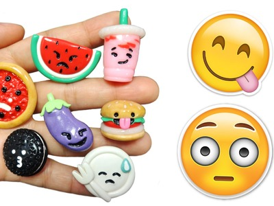 DIY EMOJI FOOD! Polymer Clay Tutorial