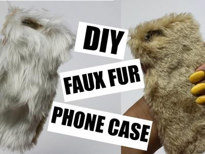 DIY FAUX FUR PHONE CASE | Back to School