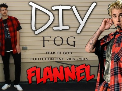 DIY: FEAR OF GOD RED FLANNEL! TUTORIAL! - (Fear Of God Collection One 2015-2016)