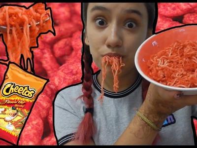 DIY Flamin' Hot Cheetos Ramen !! How To Cook Poison !!