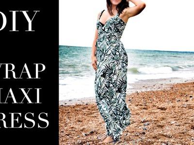 DIY | How to make a wrap maxi dress | Burda Pattern Sew Along | Szilvia Bodi