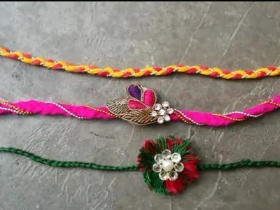 DIY:: HOW TO MAKE RAKHI AT HOME !! 3 DIFFERENT STYLES!!