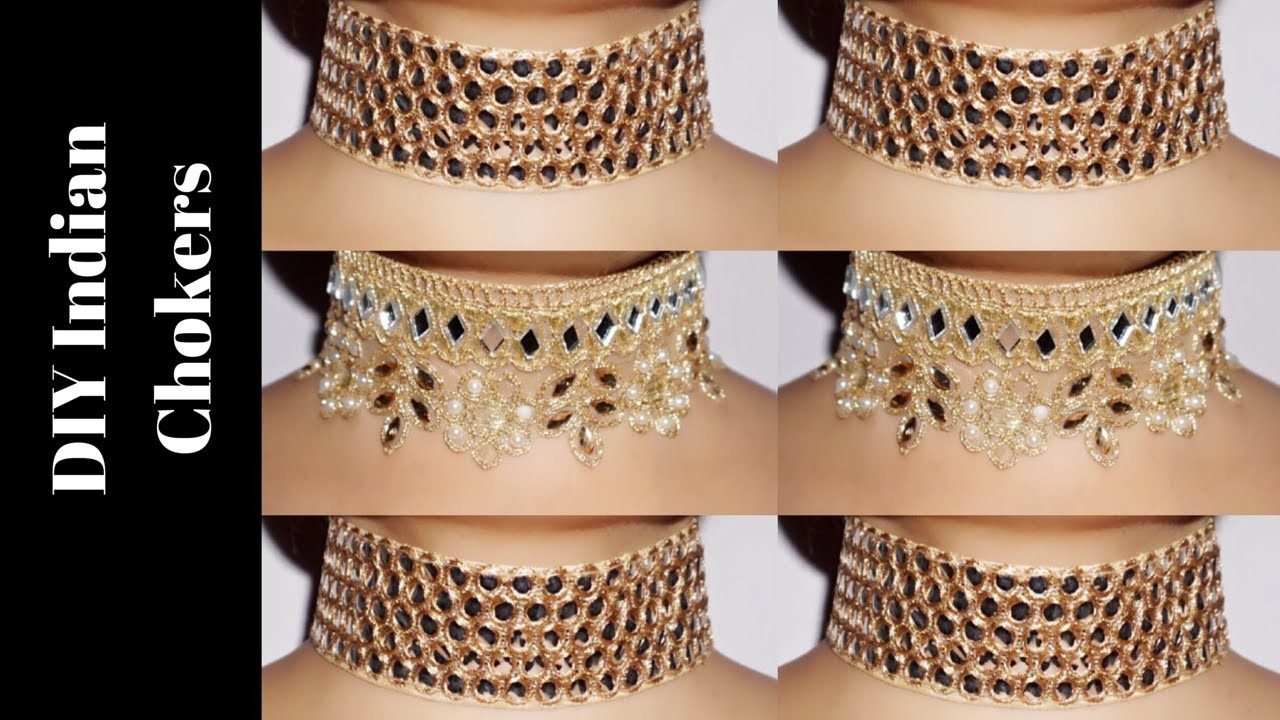 DIY Indian Chokers | Super Easy to make & Highly Affordable