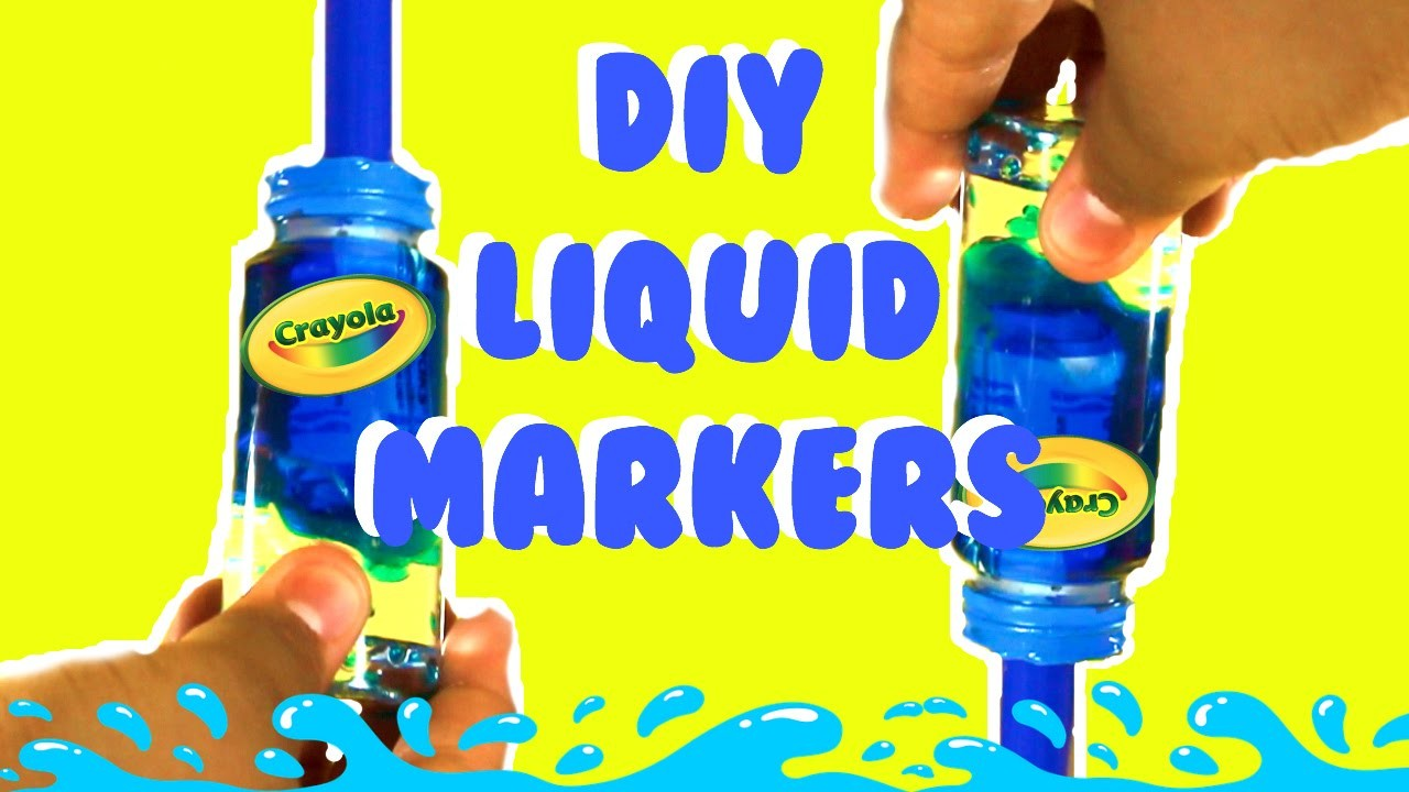DIY Liquid Markers !!!. Lava Lamp Markers | Diy's by abraham
