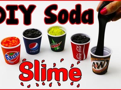 DIY LIQUID MINI SODA SLIME! Slime DIYs - Coca Cola, Mountain Dew, Fanta, Pepsi & Rootbeer!