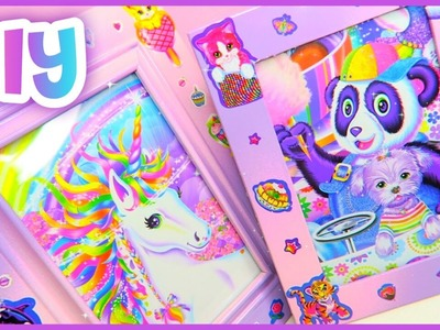 DIY Lisa Frank Picture Frame