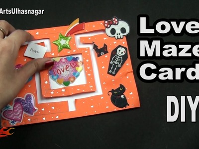 DIY Love Maze Card for Scrapbook | How To Make  | JK Arts 1042