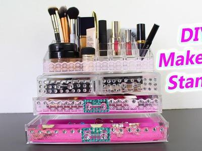 DIY Makeup Storage | Makeup Stand and Organization
