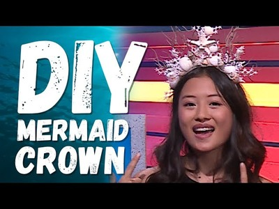 DIY MERMAID CROWN UNDER $15!! w. Haley Tju