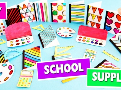 DIY | Miniature Back To School Supplies - 1 - SUPER EASY - simplekidscrafts