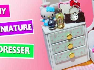 DIY | Miniature Doll Dresser - simplekidscrafts