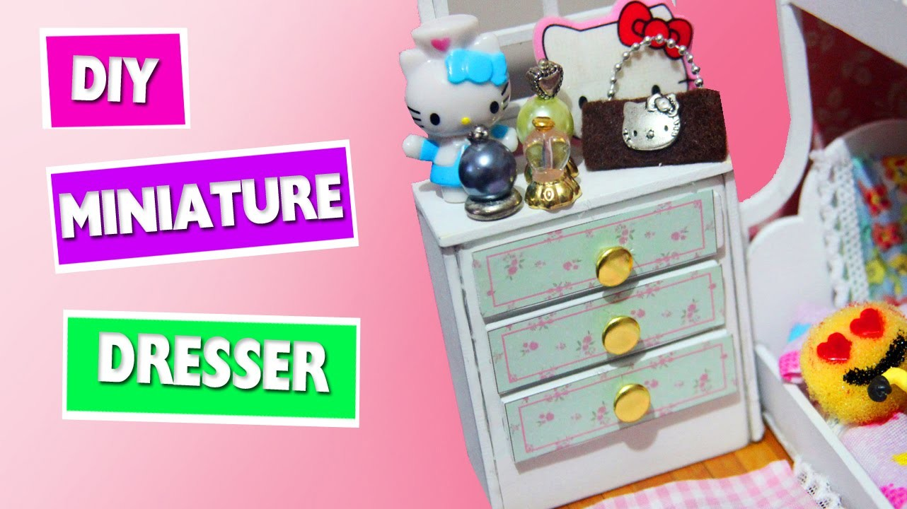 DIY | Miniature Doll Dresser - simplekidscrafts