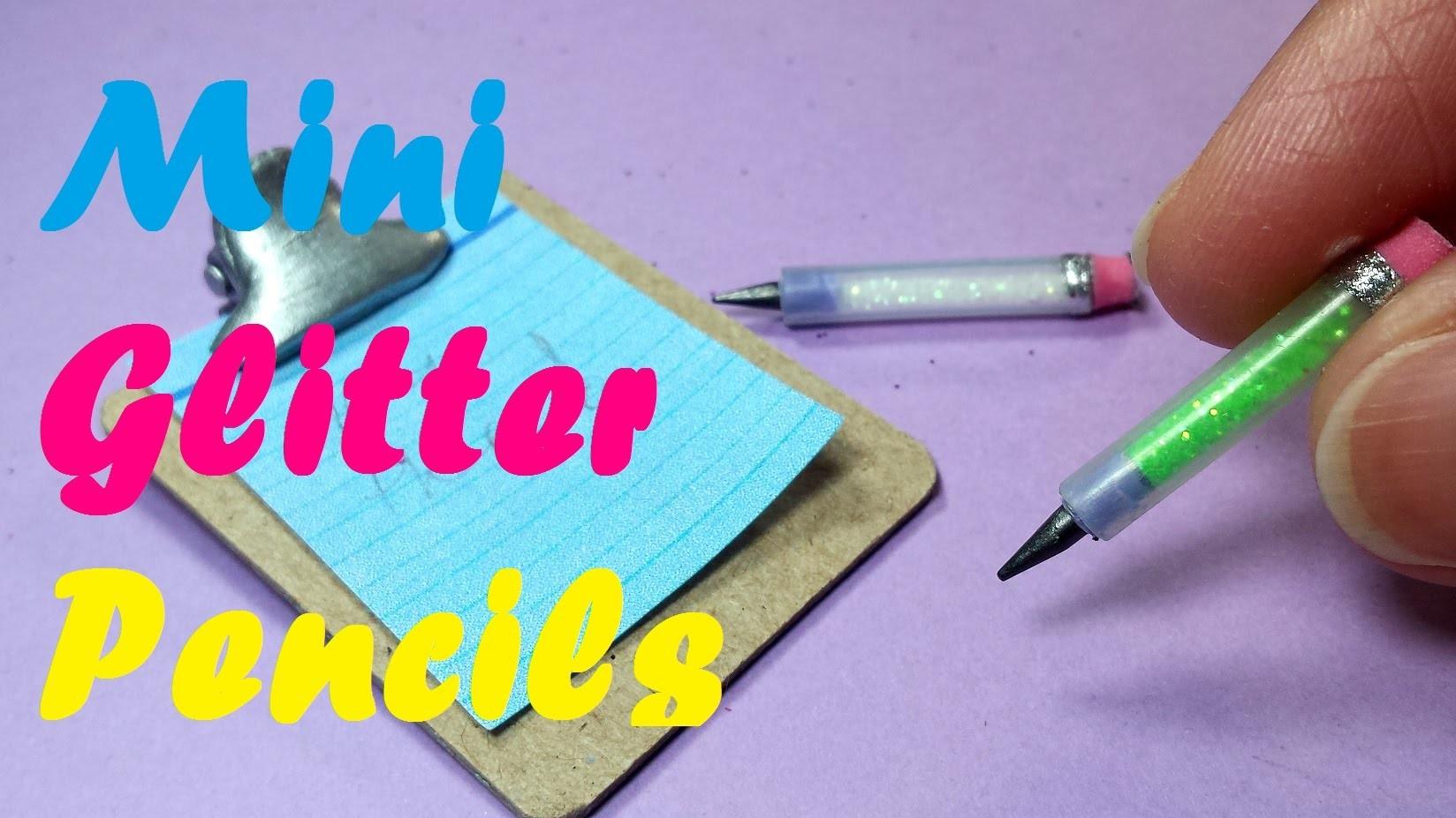 DIY Miniature Working Glitter Pencils: Doll School Supplies