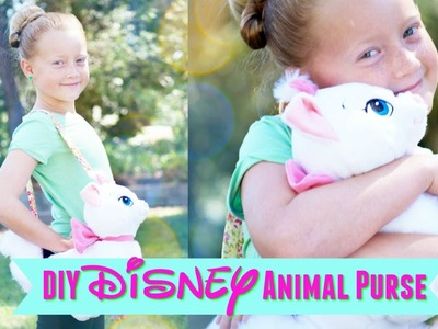DIY NO SEW Disney Stuffed Animal Purse