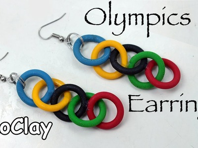 DIY Olympics earrings - Polymer clay tutorial