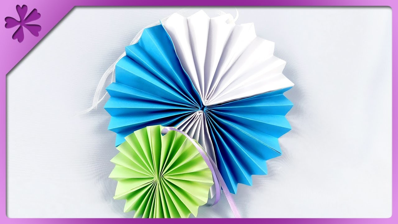 DIY Paper rosettes for wedding, birthday, party (ENG Subtitles) - Speed up #242