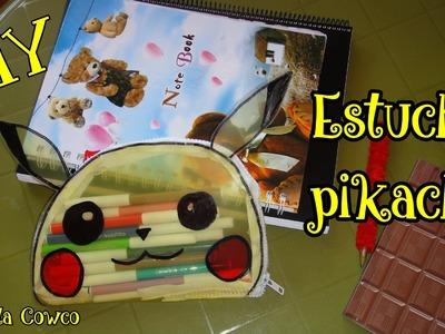 DIY  PIKACHU estuche o cartuchera  FÁCIL-POKEMON GO. BACK TO SCHOOL pikachu pencil case