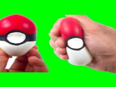 DIY POKEBALL SLIME SQUISHY STRESS BALL! Pokemon Go Squishy Balloon