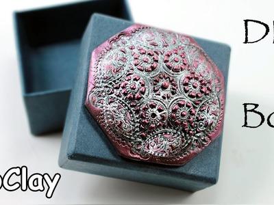 DIY Polymer clay box decoration