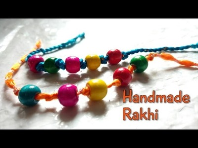 DIY Rakhi Making With Beads For Raksha Bandhan| How To | CraftLas