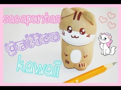 Diy - sacapuntas gato kawaii - regreso a clases - back to school