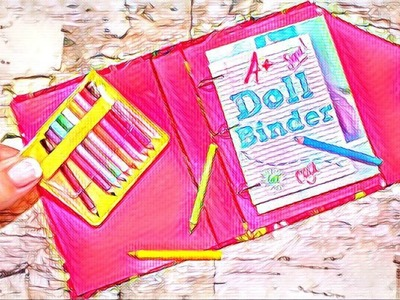 DIY School Binder | American Girl Doll School Supplies Craft