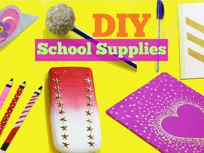 DIY School supplies! 7 Easy DIY crafts for back to school