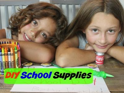 DIY SCHOOL SUPPLIES | Coke Sharpener, Emoji Magnet, Slime Pen, Glitter Pen
