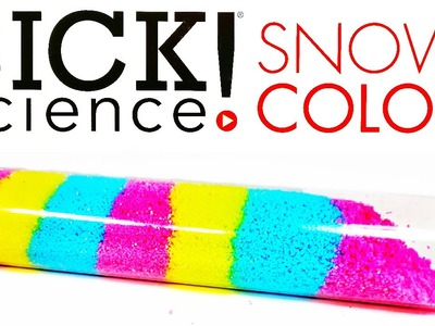 DIY: SICK SCIENCE KIT REVIEW: Make Fake Snow with a PHYSICAL REACTION and Learn colors too!