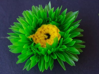 DIY Straw Flower in Creative Arts by SrujanaTV