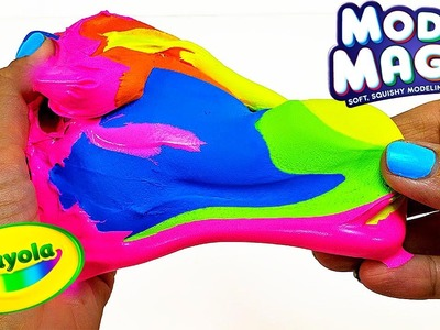 DIY: SUPER RAINBOW PUTTY! Borax Slime + Crayola Model Magic Clay = AWESOME FUN!!!