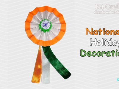 """DIY: Video Making Indian Tricolour Flag """"BATCH"""" for kids at Home - Independence day"""
