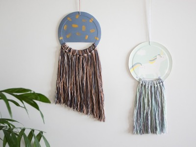 DIY: Yarn art decoration for the wall by Søstrene Grene