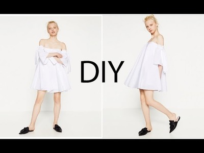 DIY Zara Inspired Circle Dress ( Easy Sewing)