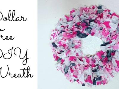 Dollar Tree Fabric.Rag Wreath| Easy DIY!