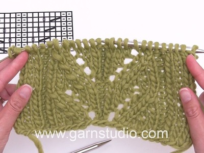 DROPS Knitting Tutorial: How to work the lace pattern for the poncho in DROPS 173-46