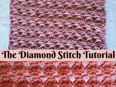 Easy Crochet - How to make The Diamond Stitch - Scarf ( Step by Step Tutorial )  ♥ Pearl Gomez  ♥