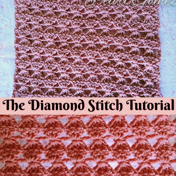 Easy Crochet - How to make The Diamond Stitch - Scarf ( Step by Step Tutorial )  ♥ Pearl Gomez  ♥