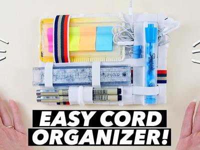 EASY DIY Cord Organizer! (How to Make a Grid-It Organizer)