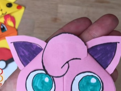 Easy Jigglypuff DIY - Pokemon Bookmark - Origami Inspired - Pokemon Go