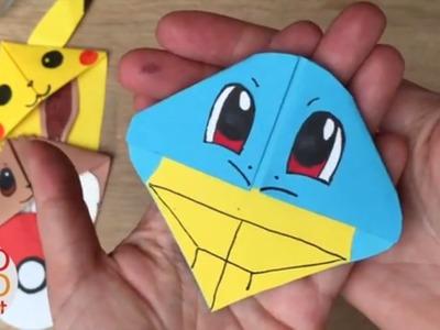 Easy Squirtle DIY - Pokemon Bookmarks - Origami Inspired - Pokemon Go